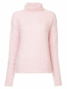 Sies Marjan fuzzy knit turtleneck jumper - PINK