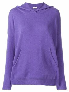 P.A.R.O.S.H. cashmere knitted hoodie - Purple