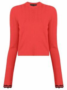Proenza Schouler Zig Zag Knit Top - Red