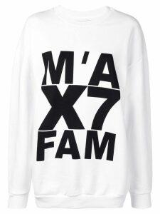 7 For All Mankind logo print sweatshirt - White