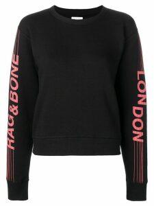 Rag & Bone London logo print sweatshirt - Black