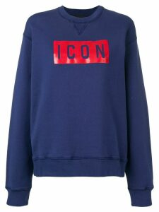 Dsquared2 Icon print sweatshirt - Blue