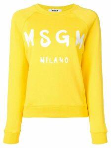 MSGM logo print sweatshirt - Yellow