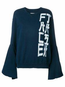 Facetasm Tokyo script flared jumper - Blue