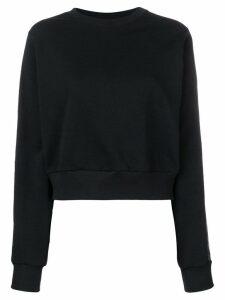 No Ka' Oi tape sleeve sweatshirt - Black