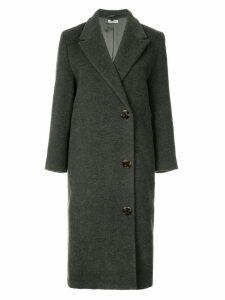 Miu Miu Pre-Owned double breasted midi coat - Grey