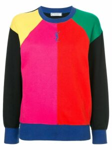 Yves Saint Laurent Pre-Owned colour-blocked sweatshirt - Multicolour