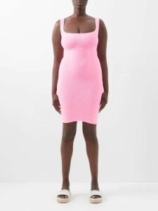 Valextra - Iside Mini Grained-leather Bag - Womens - Burgundy