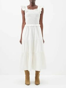 Adriana Degreas - Fig-print Silk Crepe De Chine Blouse - Womens - Purple Print