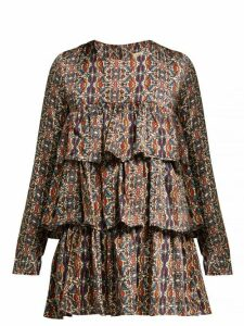 Muzungu Sisters - Tiered Ruffle Blouse - Womens - Multi