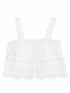 Lisa Marie Fernandez - Cropped-sleeve Cardigan - Womens - Black