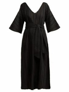 Merlette - Villandry V-neck Eyelet-lace Cotton Dress - Womens - Black