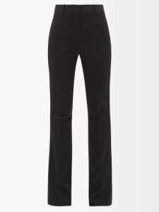 Rochas - Pussy Bow Floral Print Silk Blouse - Womens - Black