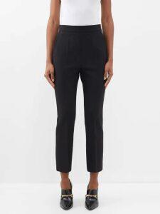 Sara Battaglia - Pussy-bow Leopard-lamé Blouse - Womens - Leopard