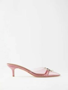 Fendi - Logo Jacquard Silk Crepe De Chine Blouse - Womens - White