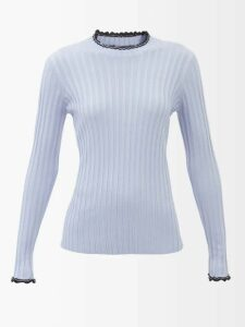 Preen Line - Fringed Cotton Polo Shirt - Womens - Black Multi