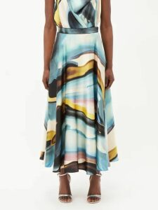 Giambattista Valli - Peony Print Silk Georgette Gown - Womens - Pink Multi