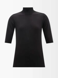 Romance Was Born - Exoskeleton Glitter-embellished Tulle Top - Womens - Black