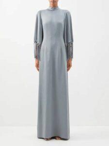 Gucci - Jacquard Knit Wool Blend Cardigan - Womens - Black Multi