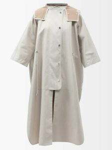 Msgm - Bleached Cotton Sweater - Womens - Blue
