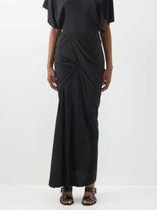 Frances De Lourdes - Martin Round-neck Modal And Silk-blend T-shirt - Womens - Navy