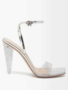 Gabriela Hearst - Hays Crocodile Effect Leather Loafers - Womens - Pink Multi