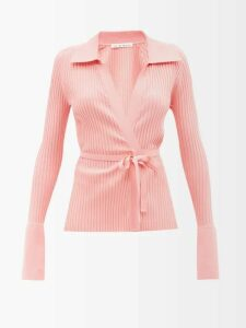 Ganni - Brooklyn Low Top Leather Trainers - Womens - Black Orange