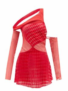 The Upside - Embroidered Cotton Tank Top - Womens - Navy White