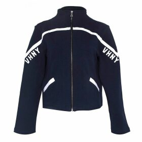 VHNY - Black High-Neck Jacket With White Stripe
