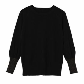 Cove - Ivy Black Sparkle Cashmere Jumper