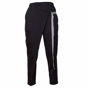 Asneh - Purple Silk Cashmere Beret & Fingerless Gloves Set