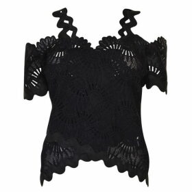 Three Floor Lace Top - All Black