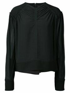 Proenza Schouler wrap-style blouse - Black