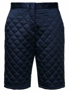 MSGM quilted satin shorts - Blue