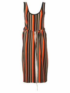 Proenza Schouler Striped Knit Tank Dress - Yellow