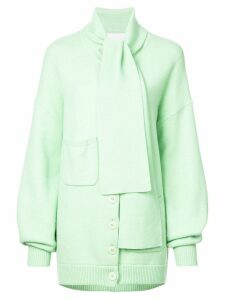 Tibi Tie collar oversized cardigan - Green