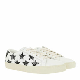 Saint Laurent Sneakers - Stars Motif Sneakers Leather White - white - Sneakers for ladies