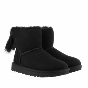 UGG Boots & Booties - W Fluff Bow Mini Black - black - Boots & Booties for ladies