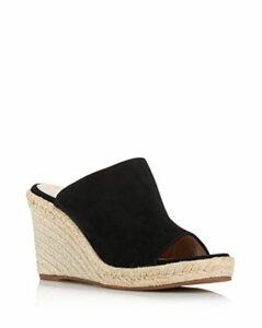 Stuart Weitzman Women's Marabella Suede Espadrille Wedge Sandals