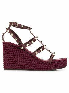 Valentino Valentino Garavani Rockstud Torchon wedge sandals - Purple