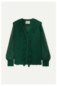 Jason Wu Collection - Ruffled Silk-chiffon Blouse - Green
