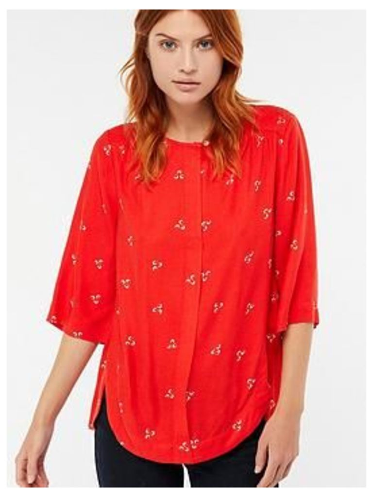 Monsoon Annabelle Print Top, Red, Size Xl, Women