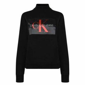 Calvin Klein Jeans Mock Neck Logo Sweatshirt