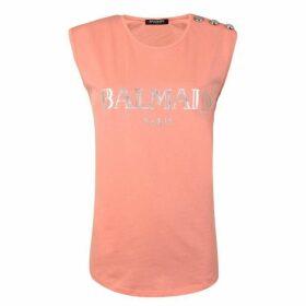 Balmain Logo Vest T Shirt