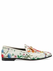 Gucci Jordaan floral print loafers - White