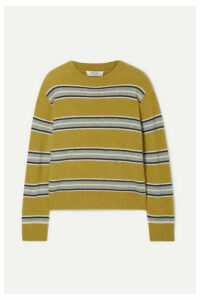 Sea - Salene Striped Cashmere Sweater - Mustard