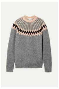 Jason Wu - Intarsia Wool-blend Sweater - Anthracite