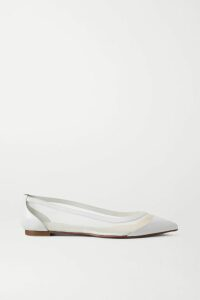 Chloé - Lace-paneled Floral-print Georgette Camisole - Gray