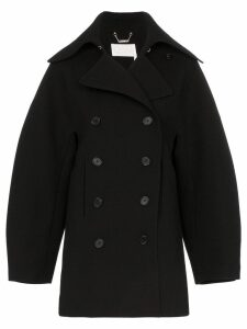 Chloé Double-breasted puff sleeve wool coat - Black