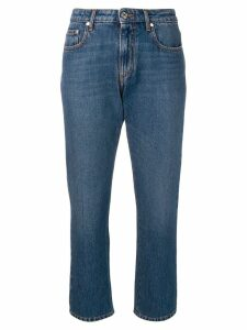 MSGM cropped straight-leg jeans - Blue